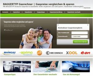 BAGGERTYP Gasrechner | Gaspreise vergleichen & sparen | Spartipp