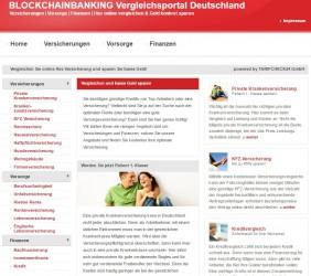 BLOCKCHAINBANKING Vergleichsportal | Versicherungen | Vorsorge | Finanzen
