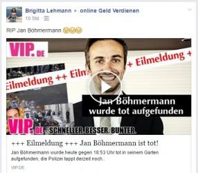 Deathspam | Jan Böhmermann wurde tot aufgefunden +++ Eilmeldung +++