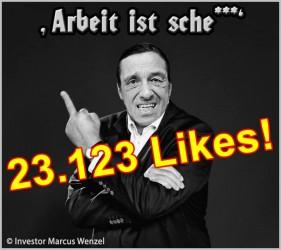 MWE Hartz-IV-Superstar Arno Dübel mit 23.123 Likes im Social Network