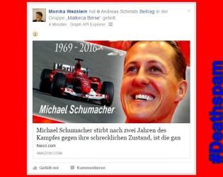 Deathspam | Michael Schumacher tot nach 2 Jahren Kampf