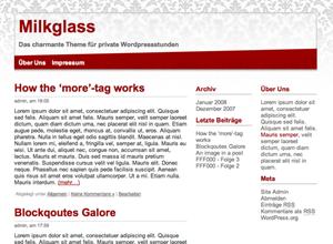 Milkglass 0.1 WordPress Theme