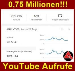 Dreiviertel Millionen Arno Dübel YouTube Aufrufe sind geschafft!
