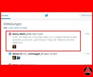 USA New York Twitter Support | Nancy Redd gefällt Arno Dübel Tweet