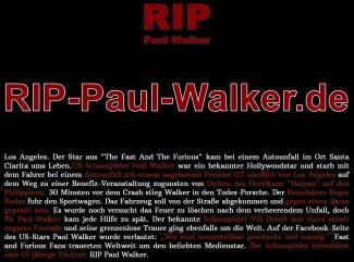 RIP Paul Walker | Millionen Menschen trauern weiterhin weltweit
