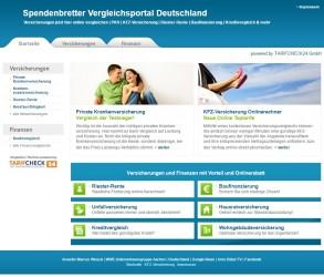 Spendenbretter Vergleichsportal Deutschland | PKV | Baufinanzierung & mehr