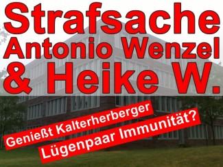 Staats-Hundwaltschaft | Lügenbaron Antonio Wenzel & Heike W. mit Immunität?