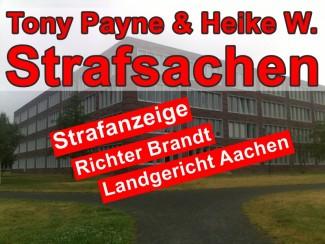Bausache Heike W. & Antonio Wenzel   Strafanzeige gegen Richter Brandt