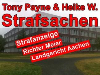 Strafantrag gegen Richter Meier   Landgericht Aachen Bausache A. Wenzel & Co.