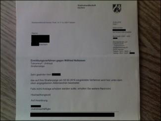 Ermittlungsverfahren gegen Sparkassen-Vorstand Wilfried Nellessen   Staatsanwaltschaft Aachen