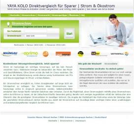 YAYA-KOLO.com Direktvergleich für Sparer   Strom & Ökostrom